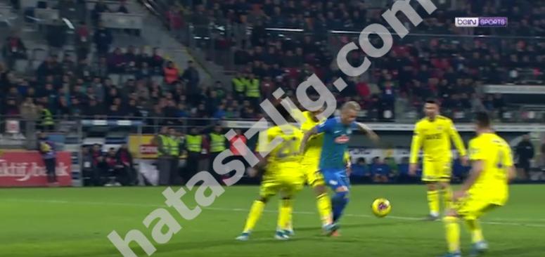 Boldrin'in penaltı pozisyonu
