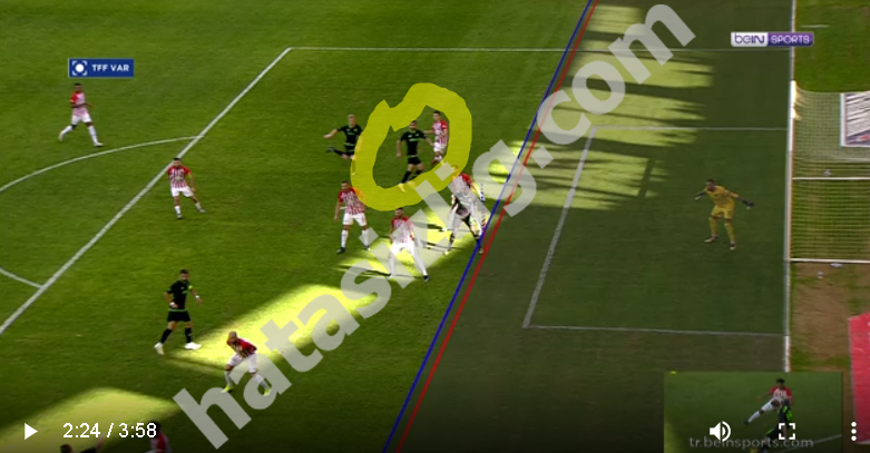 Konyaspor'un iptal edilen golü