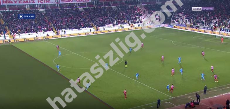 Sivassporun iptal edilen golü